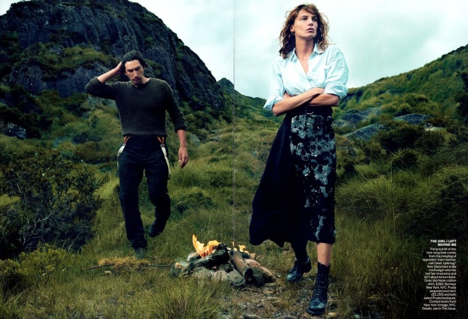 Editorial - Vogue US September 2013 Wild Irish Rose Daria Werbowy Adam Driver by Annie Leibovitz 2