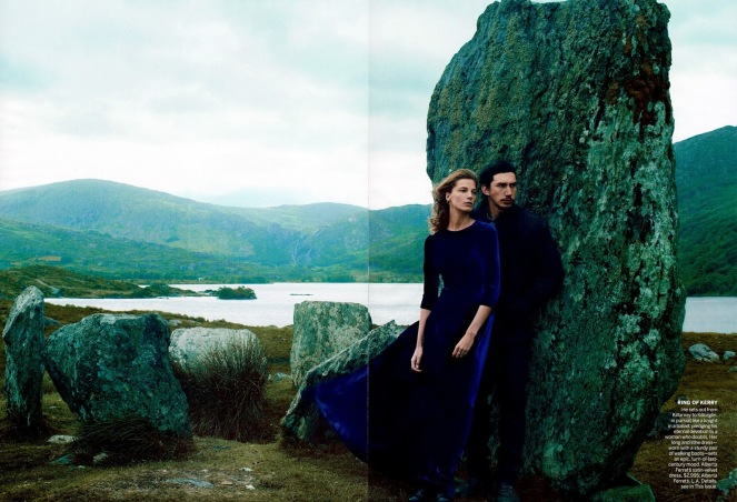 Editorial - Vogue US September 2013 Wild Irish Rose Daria Werbowy Adam Driver by Annie Leibovitz 3