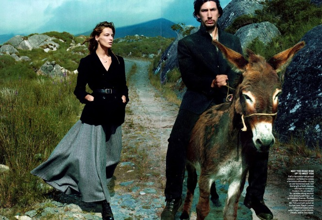 Editorial - Vogue US September 2013 Wild Irish Rose Daria Werbowy Adam Driver by Annie Leibovitz 4
