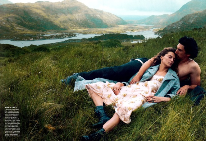 Editorial - Vogue US September 2013 Wild Irish Rose Daria Werbowy Adam Driver by Annie Leibovitz 8