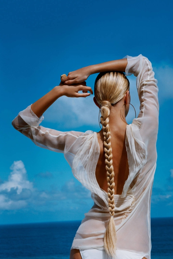 summer. braid. beach. fashion.