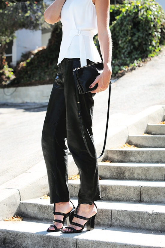 Modern, leather pant, Veronica Taylor, blogger, Model