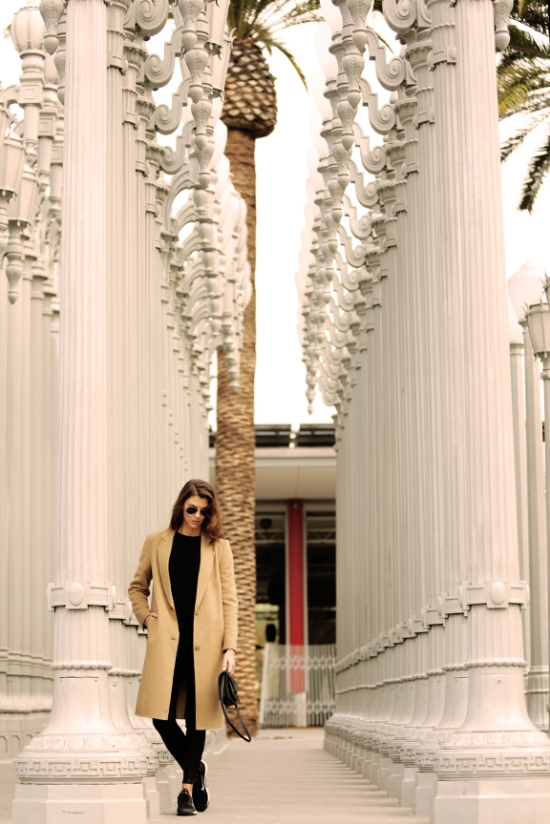 TheLookbyV, LACMA, California, Fashion, Camel Coat